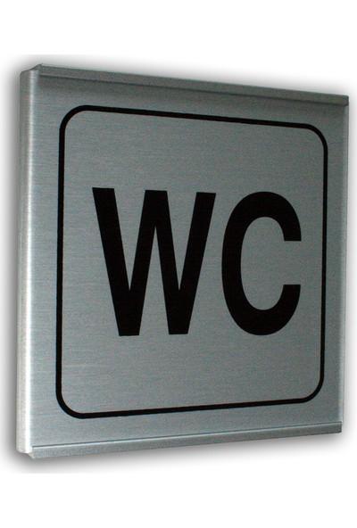 PassPano Alumınyum Plate Levha WC Yazı 12 x 12 cm