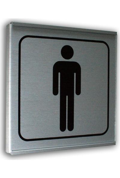 PassPano Alumınyum Plate Levha BAY WC Sembol 12 x 12 cm