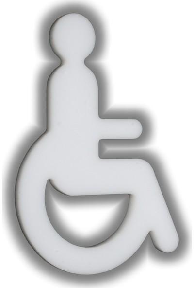 Passpano Dekupe Sembol ENGELLİ Beyaz 12 cm