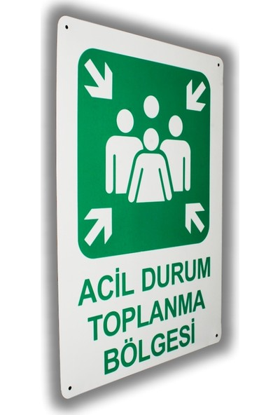 PassPano Metal Iş Güvenliği Levha ACİL DURUM TOPLANMA YERİ 25,5 x 36 cm