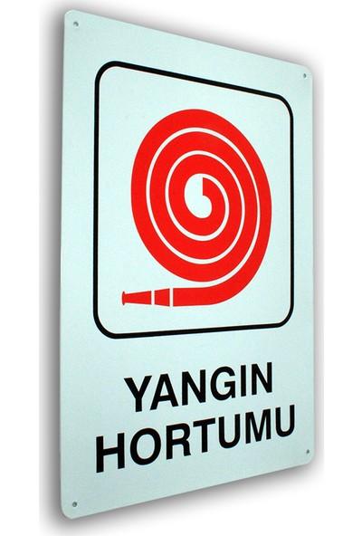 PassPano Metal Iş Güvenliği Levha YANGIN HORTUMU 25,5 x 36 cm