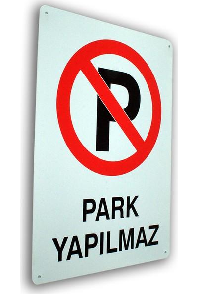 PassPano Metal Iş Güvenliği Levha PARK YAPILMAZ 25,5 x 36 cm
