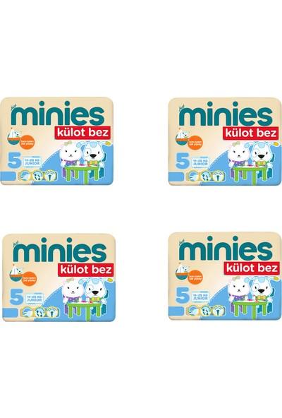 Minies 5 Numara Külot Bez 23x4=92 Adet Külot Bebek Bezi 12-18 Kg
