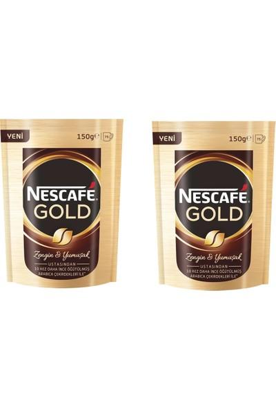 Nescafe Gold 150x2=300g Çözünebilir Hazır Kahve 2'li Paket