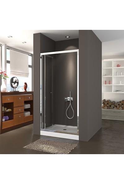 Durul Duşakabin 90 x 99 cm Katlanır Kapı Şeffaf H:190 cm Duşakabin Duş Teknesiz 90 cm