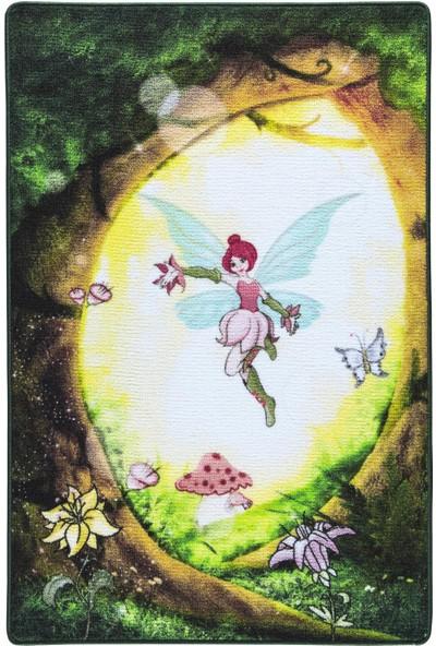 Confetti Fairy Forest 133X190 Yeşil Bukle Çocuk Halisi