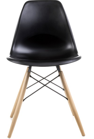 Dorcia Home Siyah Eames Sandalye 4 Adet Cafe Balkon Mutfak Sandalyesi