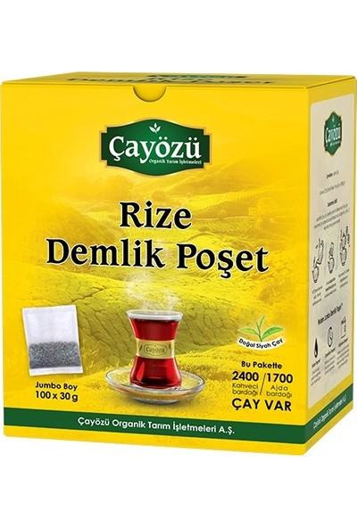 Çayözü Rize Demlik Poşet Siyah Çay 100 x 30 gr