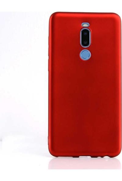 Case Street Meizu Note 8 Kılıf Premier Silikon Esnek Arka Koruma Kırmızı