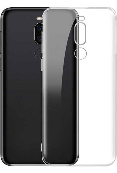 Case Street Meizu Note 8 Kılıf Süper Sillikon Yumuşak Arka Koruma Şeffaf