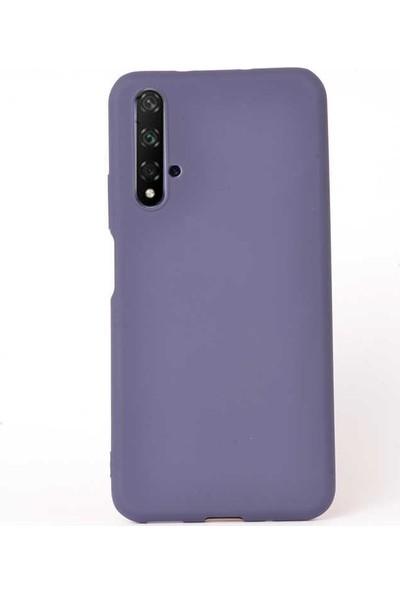 Case Street Huawei Honor 20 Kılıf Premier Silikon Esnek Arka Koruma Mavi