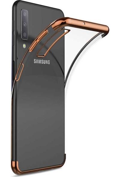 Gpack Samsung Galaxy A30s Kılıf Colored Silicone Yumuşak Bronz