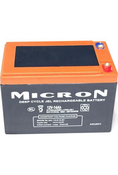 Micron 12V 14A Jel Akü Kapalı Sistem
