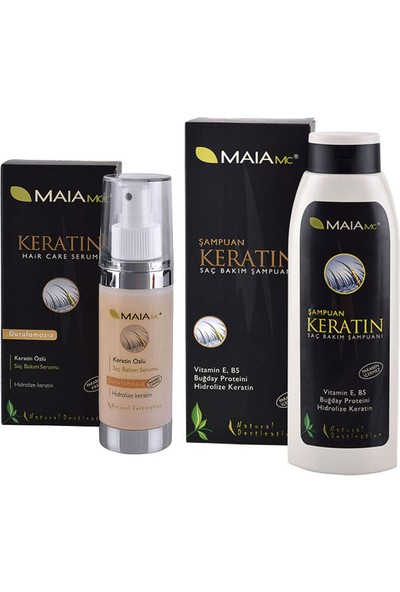 Maia Keratin Saç Bakım Seti (Serum+Şampuan)