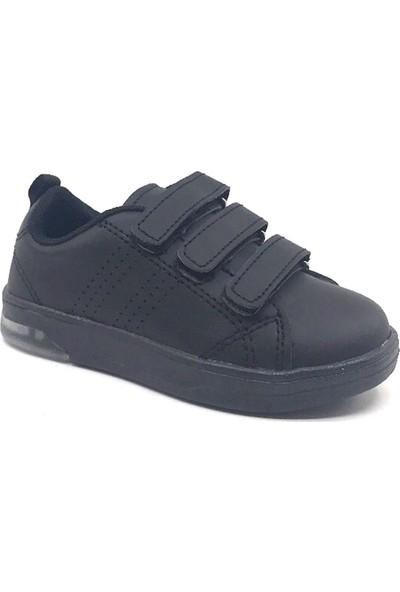 Cool 19-K25 Patik Siyah Cırtlı Işıklı Erkek Çocuk Spor Ayakkabı