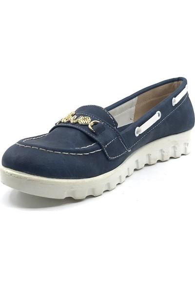 M.Sözen Lacivert Günlük Abiye Kız Çocuk Babet Ayakkabı