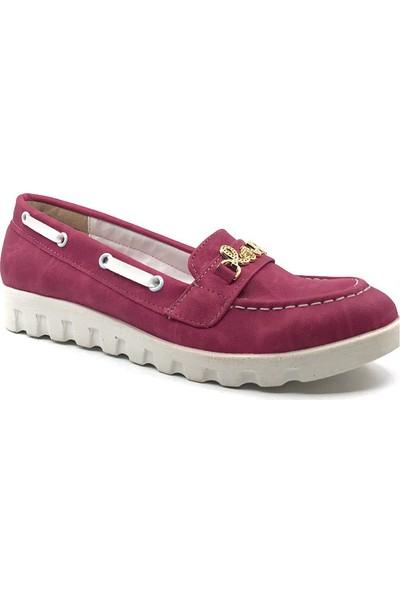 M.Sözen Pembe Günlük Abiye Kız Çocuk Babet Ayakkabı