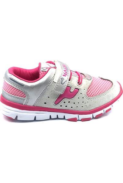 Ya Ay Fuşya-Gri Kız Çocuk Spor Ayakkabısı