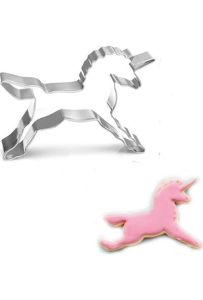 Tahtakale Toptancısı Unicorn Kek Kurabiye Ve Pasta Kalıbı Metal 8,5 x 8,5 cm
