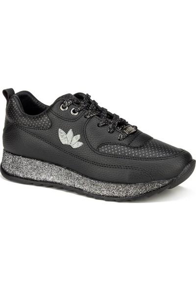 Flet Siyah Kadın Ayakkabı Günlük Ayakkabı