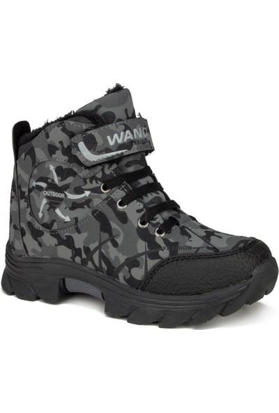 Wand Siyah Kürklü Unisex Çocuk Bot Ayakkabı