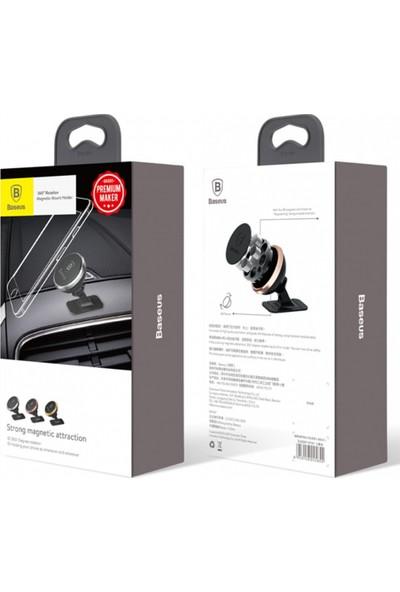 Baseus 360-Derece Dönen Araç İçi Manyetik Telefon Tutucu (Yapışkanlı )