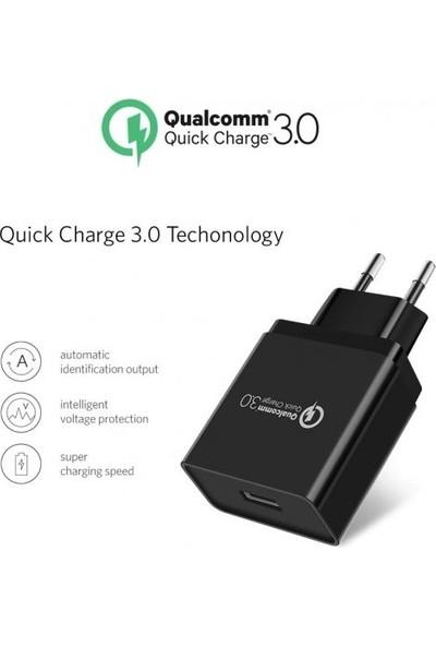 Qualcomm 4.1A QC 3.0 Micro USB Hızlı Şarj Adaptörü & Data Kablosu