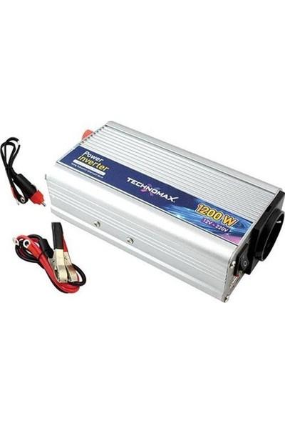Teknomax 1200W Inverter Dönüştürücü