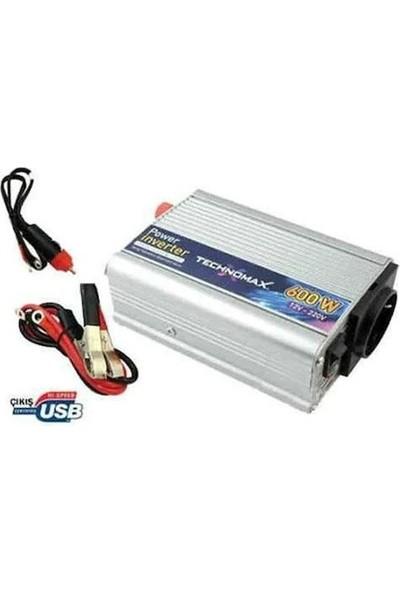 Teknomax 600W Inverter Dönüştürücü