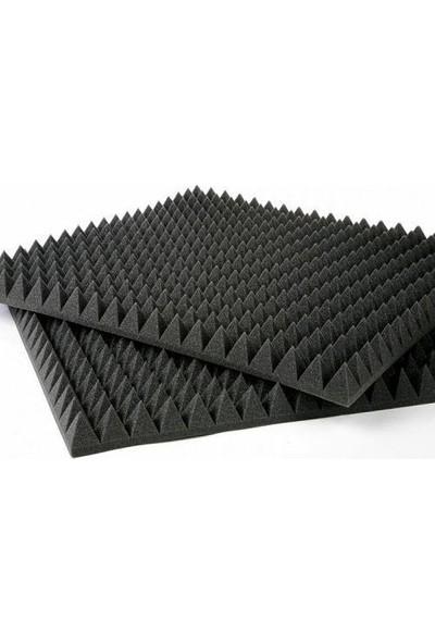 Bantmarketim 40 mm Yanmaz Akustik Piramit Sünger 50 Dns 100 x 100 cm 1m²