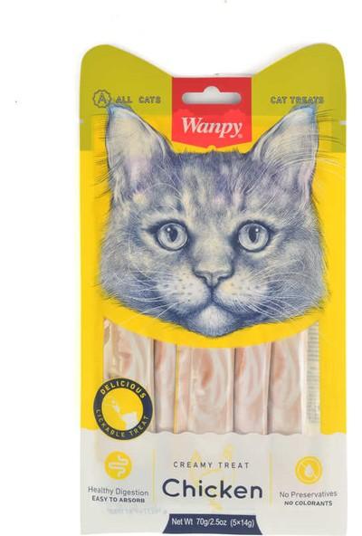 Wanpy Tavuklu 5 x 14 gr Likit Kedi Ödülü