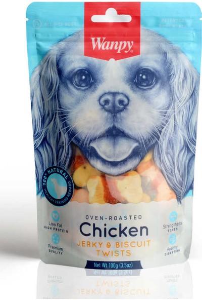 Wanpy Bisküvi Üzeri Tavuk Sargılı 100 gr BA-04H Köpek Ödül