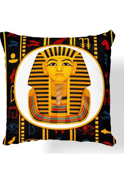 Monohome Pharaoh Dijital Baskılı Kırlent Kılıfı