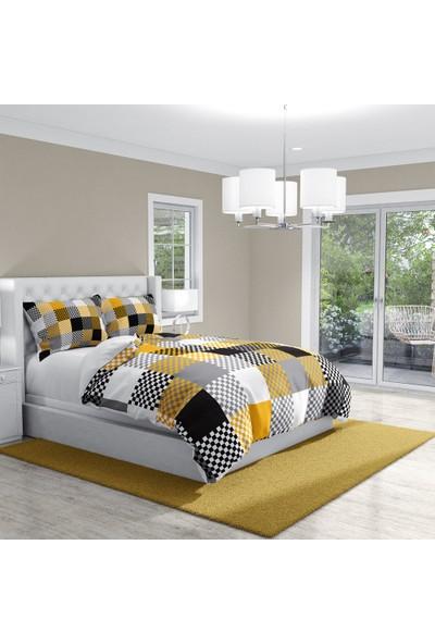Monohome Checkers Gray Modern Çift Kişilik Nevresim Takımı
