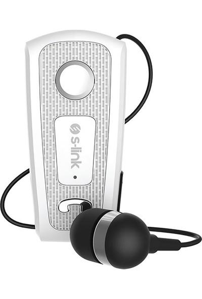 S-link SW-BT35 Mobil Uyumlu Makaralı Beyaz Bluetooth Kulaklık