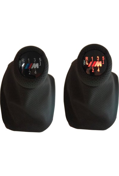 Bmw Depo E46 Delikli Siyah ışıklı Vites Topuzu Körüklü