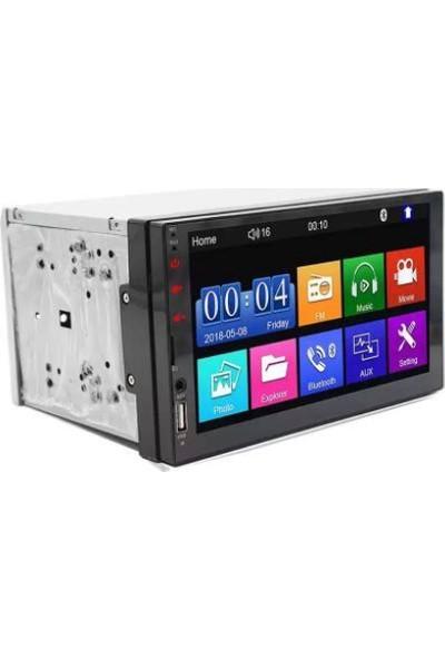 "Eurotec Eu 750 Mirrorlink / USB /sd Bt Aux Fm Kamera Double Din 7"""
