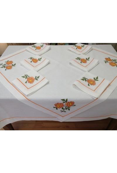 Oya Mutfak Takımı 8 Parça -Portakal