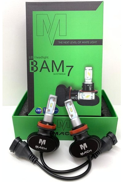 Appcity Mach Bam-7 Profesyonel LED Xenon H4 -(9800LM)