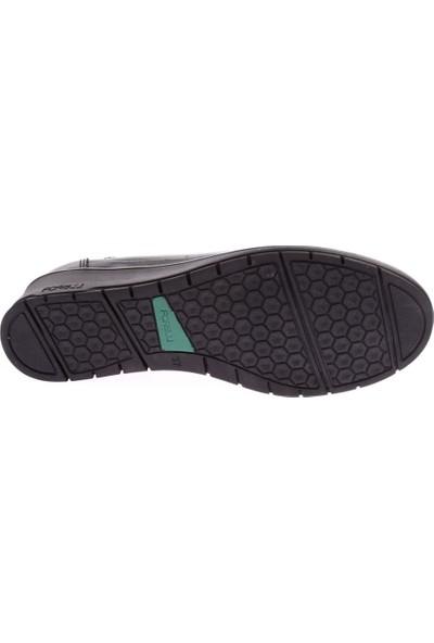 Forelli 25115 Kadın Deri Siyah Halluks Comfort Ayakkabı