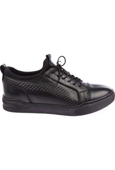 Dgn 10013 Erkek Boğazlı Stretch Spor Lastik Bağlı Sneakers Ayakkabı