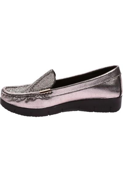 Dgn 920 Kadın Silver Taşlı Günlük Ayakkabı