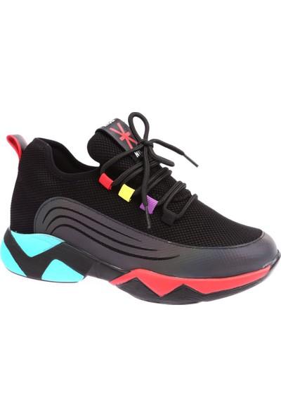 Guja 19K319-1 Kadın Kalın Taban Çapraz Bağlı Sneakers Spor Ayakkabı