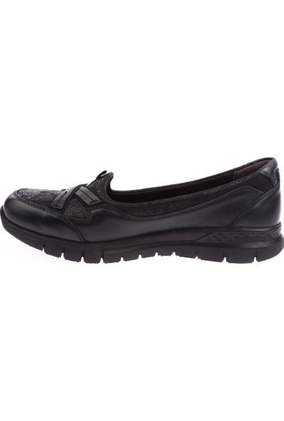 Forelli 29401-1 Kadın Siyah Comfort Ayakkabı