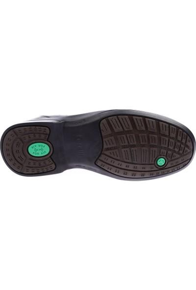 Forelli 11011 Erkek Siyah Deri Comfort Ayakkabı
