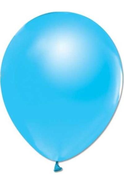 Kidspartim 100'lü Metalik Açik Mavi Balon 12 Inc