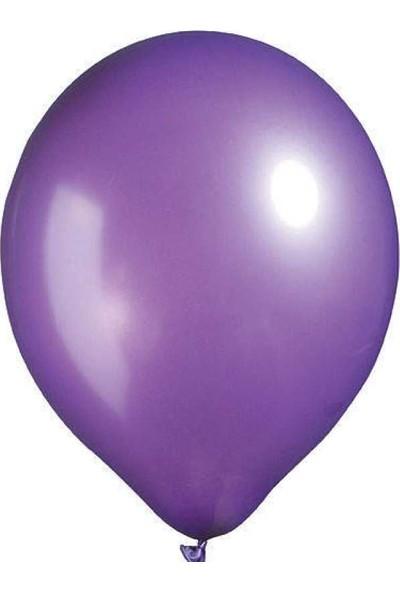 Kidspartim 100'lü Metalik Mor Balon 12 Inc