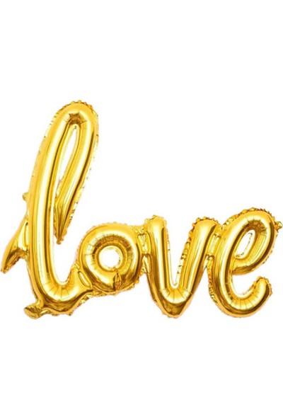 Kidspartim Love Folyo Balon 20 Inc Altin