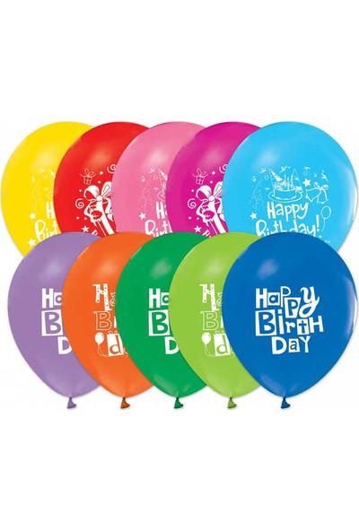 Kidspartim Happy Birthday Baskili Balon