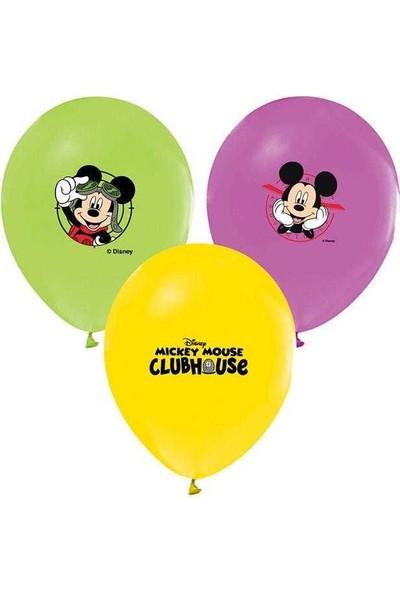 Kidspartim Mickey Mouse Baskili Renkli Balon